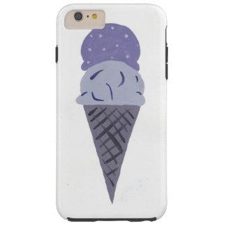 Capa de telefone roxa pintada bonito do cone do