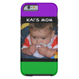 Capa de telefone roxa & verde das mamães com foto