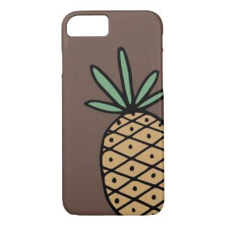 Capa de telefone tirada mão do abacaxi