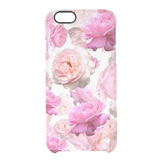 Capa de telefone transparente floral chique do