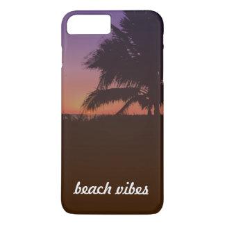 Capa de telefone tropical das impressões da praia