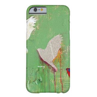 Capa de telefone verde abstrata dos pássaros capa barely there para iPhone 6