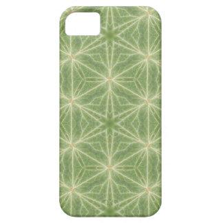 Capa de telefone verde do design geométrico da