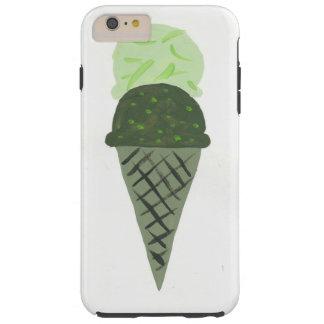 Capa de telefone verde pintada bonito do cone do