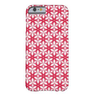 Capa de telefone vermelha com teste padrão floral capa barely there para iPhone 6