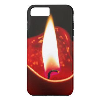 Capa de telefone vermelha do iphone 6 da vela