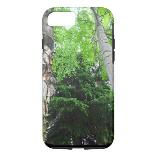 Capa de telefone vibrante das árvores altas