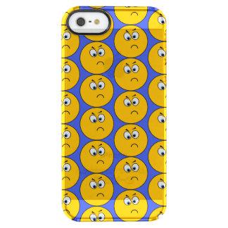 Capa de telefone virada de Emojis com fundo azul