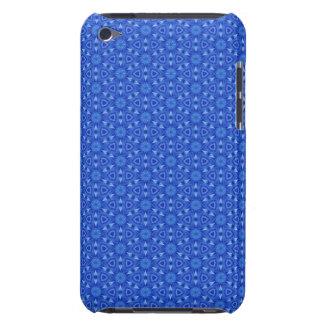 Capa do ipod touch azul do teste padrão de