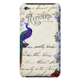 Capa do ipod touch da colagem do pavão do vintage