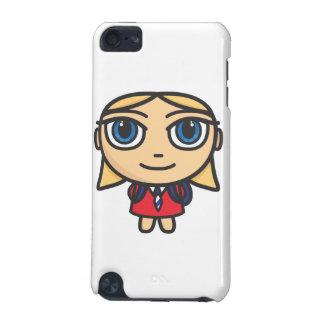 Capa do ipod touch da menina da escola do personag capa para iPod touch 5G