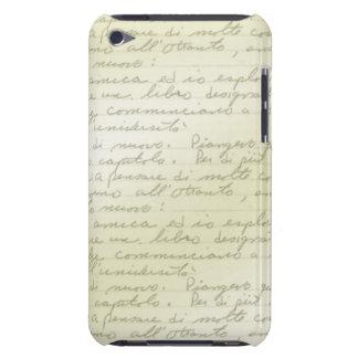 Capa do ipod touch de Deco do Scribble do vintage Capa Para iPod Touch