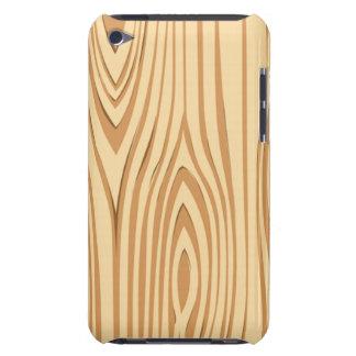 Capa do ipod touch de madeira do teste padrão