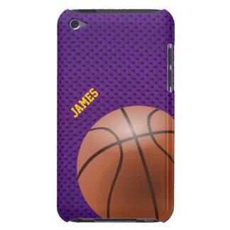 Capa do ipod touch roxa do costume do basquetebol
