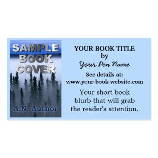 Capa do livro da promoção do autor do escritor modelo cartão de visita
