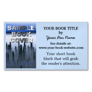 Capa do livro da promoção do autor do escritor com