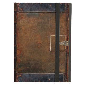 Capa do livro de couro velha
