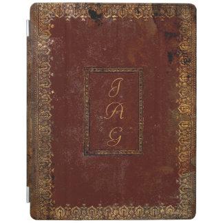 Capa do livro de couro velha do estilo do