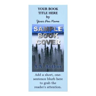Capa do livro do marketing da promoção do autor do panfleto