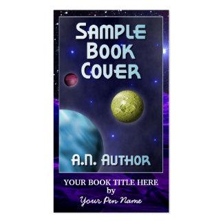 Capa do livro grande da promoção do autor da cartão de visita