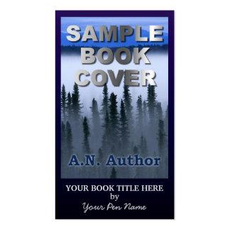 Capa do livro grande da promoção do autor do cartão de visita