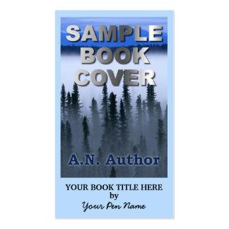 Capa do livro grande da promoção do autor do escri modelos cartão de visita