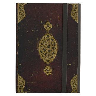 Capa do livro velha do original de Brown do couro