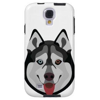 Capa Galaxy S4 A ilustração persegue o rouco Siberian da cara