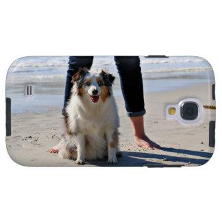 Capa Galaxy S4 Bennett - mini australiano - Rosie - praia de