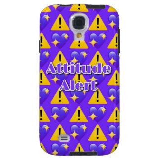 Capa Galaxy S4 Caixa (roxa) alerta da galáxia S4 de Samsung da