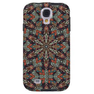Capa Galaxy S4 Design floral do teste padrão do abstrato da