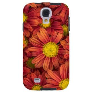 Capa Galaxy S4 Flores alaranjadas
