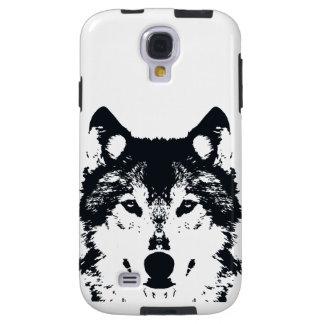 Capa Galaxy S4 Lobo preto da ilustração