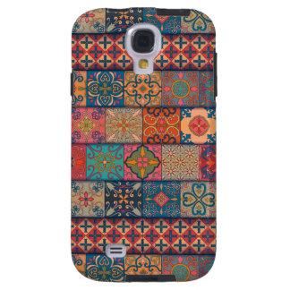 Capa Galaxy S4 Ornamento de talavera do mosaico do vintage