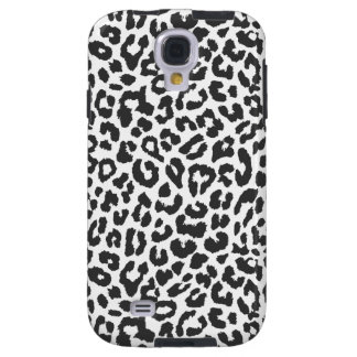 Capa Galaxy S4 Padrões pretos & brancos da pele animal do