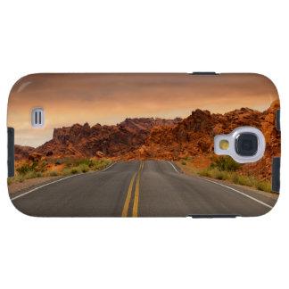 Capa Galaxy S4 Por do sol da viagem por estrada