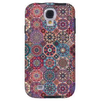 Capa Galaxy S4 Retalhos do vintage com elementos florais da