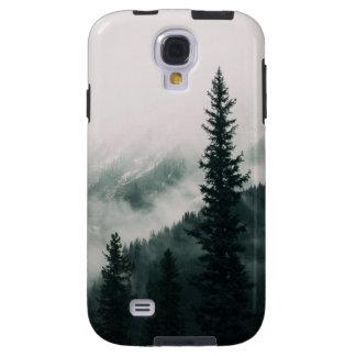Capa Galaxy S4 Sobre as montanhas e a calha as madeiras