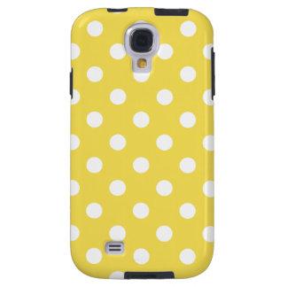 Capa Galaxy S4 Teste padrão de bolinhas amarelo
