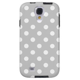 Capa Galaxy S4 Teste padrão de bolinhas cinzento