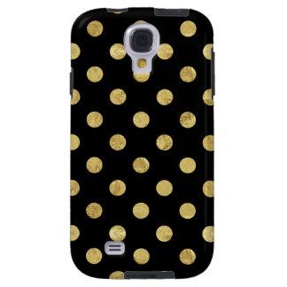 Capa Galaxy S4 Teste padrão de bolinhas elegante da folha de ouro