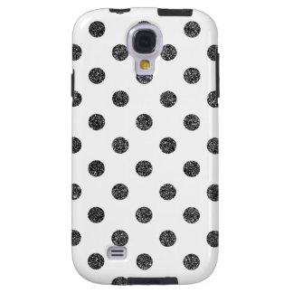 Capa Galaxy S4 Teste padrão de bolinhas elegante do brilho do
