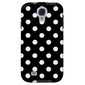Capa Galaxy S4 Teste padrão de bolinhas preto e branco