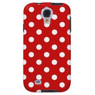 Capa Galaxy S4 Teste padrão de bolinhas vermelho e branco