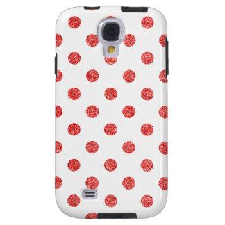 Capa Galaxy S4 Teste padrão de bolinhas vermelho elegante do