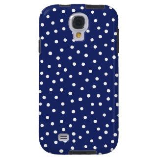Capa Galaxy S4 Teste padrão de pontos dos confetes dos azuis