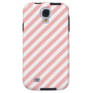 Capa Galaxy S4 Teste padrão diagonal do rosa e o branco das
