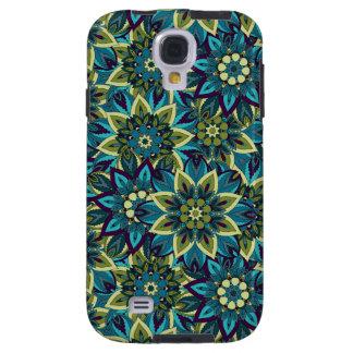 Capa Galaxy S4 Teste padrão floral étnico abstrato colorido da