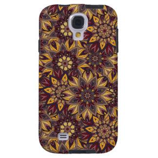 Capa Galaxy S4 Teste padrão floral étnico abstrato colorido de da