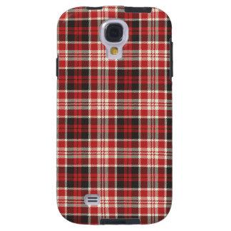 Capa Galaxy S4 Teste padrão vermelho e preto da xadrez